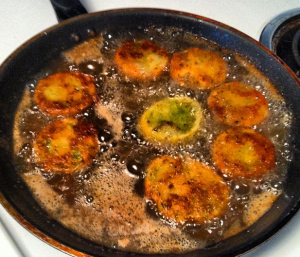 My first attempt at Fried Green Maters was extremely successful.